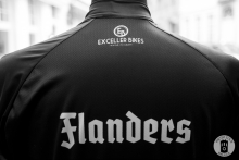 A cycling jersey for Flanders & Exceller Bikes in Bruges (photo by Photo Tour Brugge)