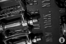 A detail of bicycle pedals at Exceller Bikes in Bruges (photo by Photo Tour Brugge)