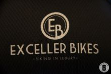 A stiched logo detail from a cycling jersey at Exceller Bikes in Brugge (photo by Photo Tour Brugge)