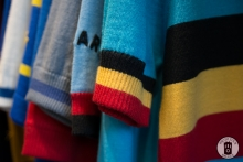 A selection of cycling jerseys at Exceller Bikes in Brugge (photo by Photo Tour Brugge)