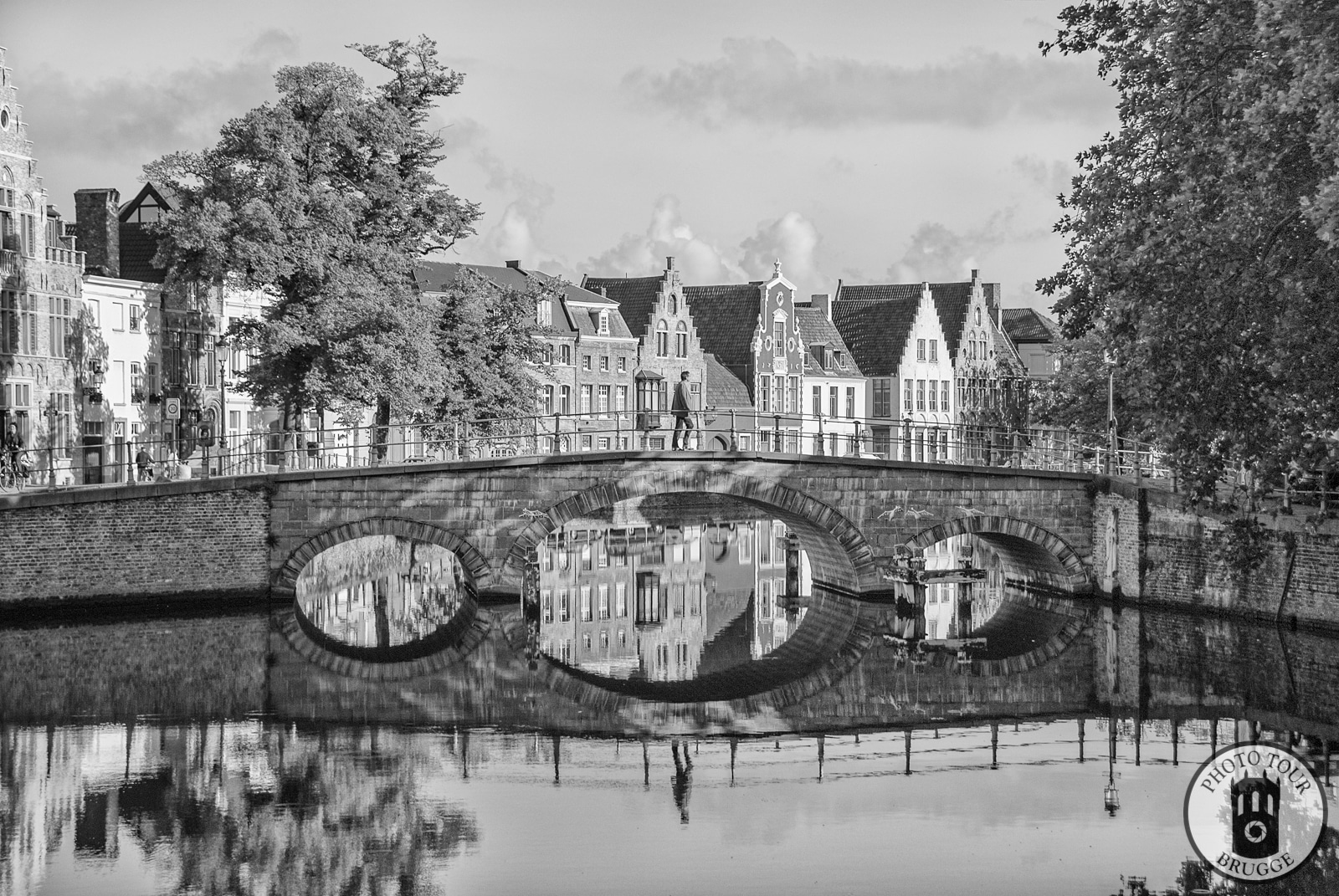 The Carmersbrug bridge in Bruges Belgium, this take as the main photo for Photo Tour Brugge.